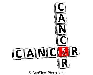 mots croisés, cancer, 3d
