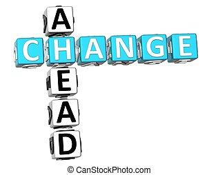 mots croisés, changement, devant