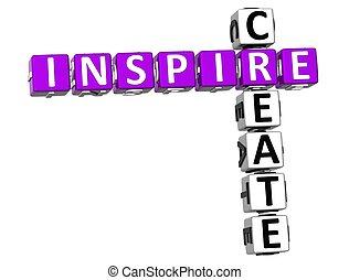 mots croisés, créer, inspirer, 3d