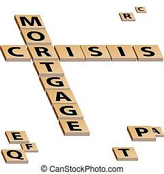 mots croisés, crise, hypothèque