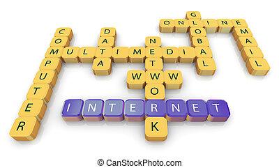 mots croisés, de, internet