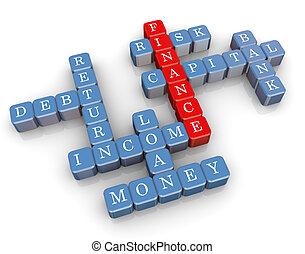 mots croisés, finance, 3d
