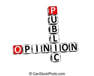 mots croisés, fond, opinion, blanc, public, 3d