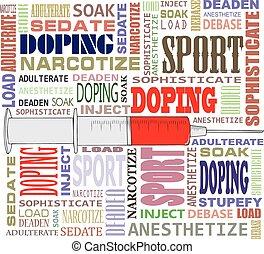 mots croisés, formulaire, doping