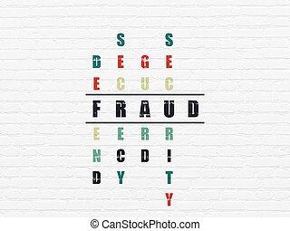 mots croisés, fraude, concept:, intimité