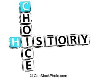 mots croisés, histoire, 3d, choix