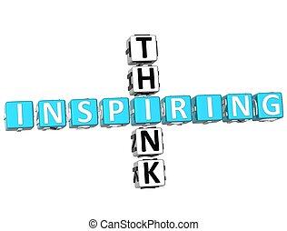 mots croisés, inspirer, penser