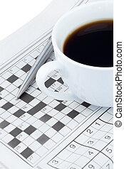 mots croisés, journaux, puzzle
