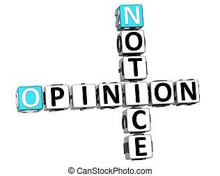 mots croisés, opinion, 3d, avis