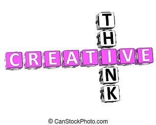 mots croisés, penser, créatif