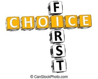 mots croisés, premier, 3d, choix
