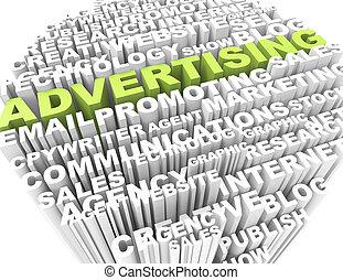 mots croisés, publicité