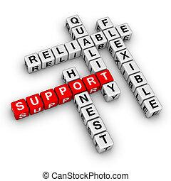 mots croisés, soutien, puzzle