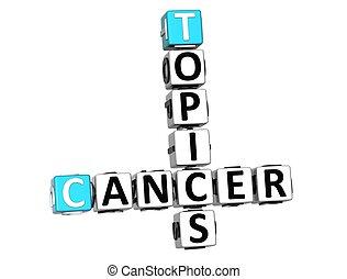 mots croisés, sujets, cancer, 3d