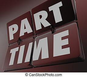 mots, horloge, payer, travail, partie, retro, w, temps, carreau, sous, emploi, bas