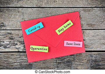 mots, maison, collant, sauver, notes, séjour, covid, vies, -19, quarantaine