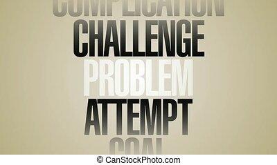 mots, problème, filer, solution, hd