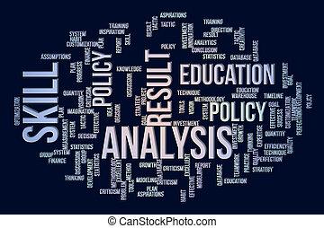 mots, &, résumé, business., communication, message., créativité, fond, numérique, nuage