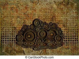mottled speakers - Cracked background in a gothic style with...