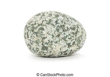 Mottled Stone Isolated on White Background