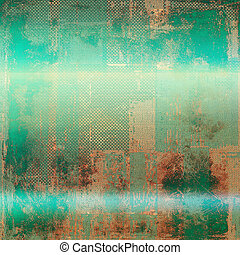Mottled vintage background with grunge texture and different color patterns: yellow (beige); brown; green; blue; red (orange)