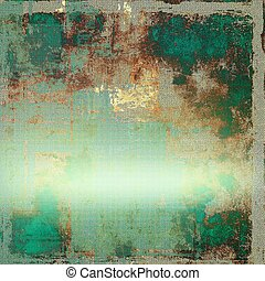 Mottled vintage background with grunge texture and different color patterns: yellow (beige); brown; gray; green; blue; cyan