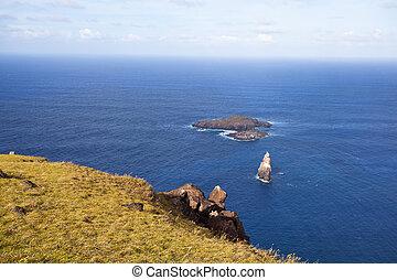 Motu Nui islet near Easter Island, Pacific Ocean