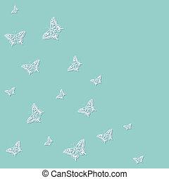 motyl, błękitne tło