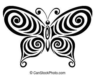 motyl, dekoracyjny, 1.