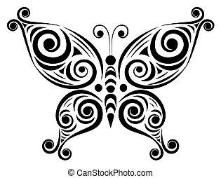motyl, dekoracyjny, 2.