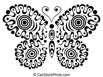 motyl, dekoracyjny, 3.