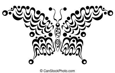 motyl, dekoracyjny, 4.