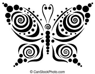motyl, dekoracyjny, 5.