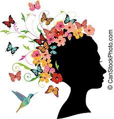 motyl, dziewczyna
