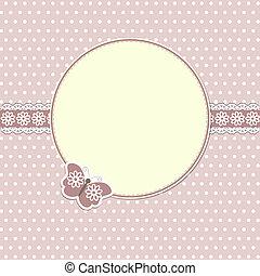motyl, elegancki, ułożyć, okrągły