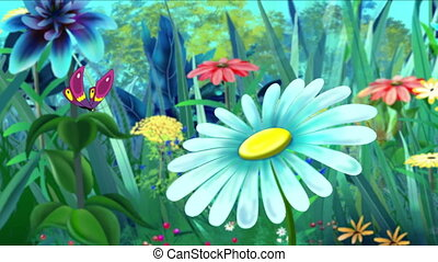motyl, fiołek