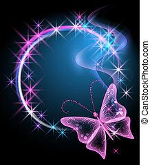 motyl, jarzący się, tło