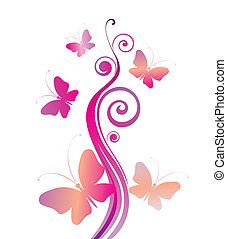 motyle, barwny, karta