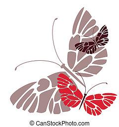 motyle, barwny
