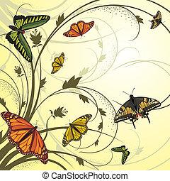 motyle, przelotny, karta