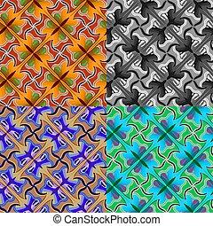 motyle, tessellation, styl, abstrakcyjny, próbka, seamless, escher