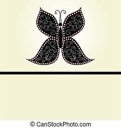 motyle, wektor, różny, tło