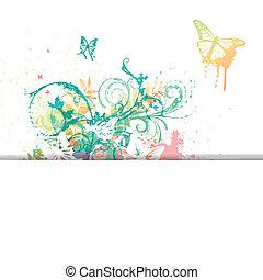motyle, wektor, tło