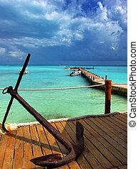 motyw morski, karaibski
