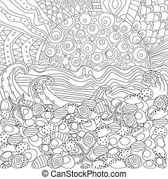 motyw morski, koloryt książka