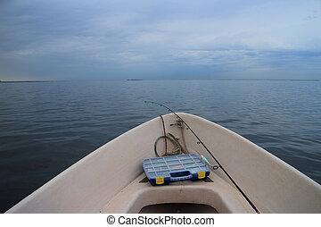 motyw morski, na statku, łódka