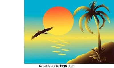 motyw morski, tropikalny