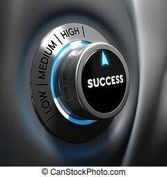 motywacja, pojęcie, -, handlowy, powodzenie