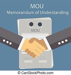 MOU memorandum of understanding. Vector Illustration