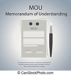 MOU memorandum of understanding. Vector Illustration